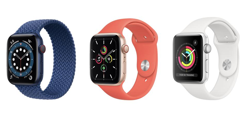 Apple Watch 6 vs SE vs 3